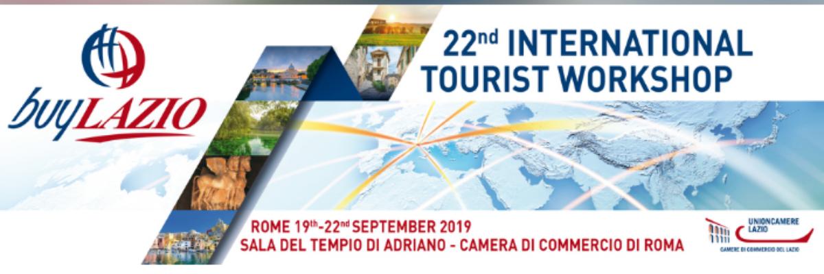 BUY LAZIO, Workshop Turistico Internazionale, 19-22 settembre 2019, Roma